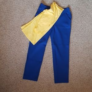 Bright ponte knit ankle pants